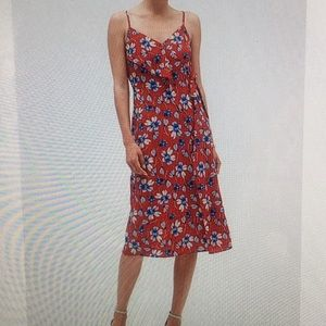 NWT - BR Factory floral print faux wrap dress